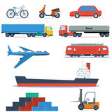 Flat Transport Vehicles Royalty Free Stock Photo