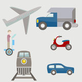 Flat Transportation Icons Royalty Free Stock Image