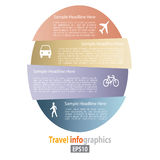 Flat Transportation Infographic Royalty Free Stock Photos