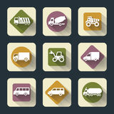 Flat travel icons Stock Images