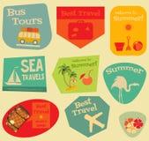 Flat Travel Stickers Set Stock Photo