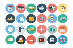 Flat Travel and Tourism Vector Icons 1 Stock Photography