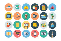 Flat Travel and Tourism Vector Icons 4 Stock Images