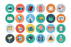Flat Travel and Tourism Vector Icons 3 Stock Photos
