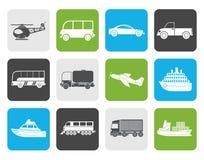 Flat Travel and transportation icons Stock Photos