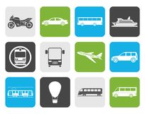 Flat Travel and transportation of people icons. Vector icon set Royalty Free Stock Image