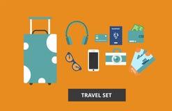 Flat travel vector illustration. royalty free illustration