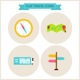 Flat Travel Website Icons Set Royalty Free Stock Images