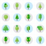 Flat Tree Icons Vector Illustration Stock Photo