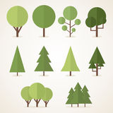 Flat trees Stock Photography