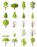Flat trees set Royalty Free Stock Photo