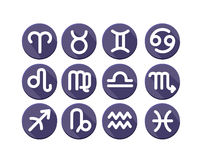 Flat trendy zodiac symbols Royalty Free Stock Photo