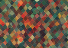 Flat triangle retro color geometric background Royalty Free Stock Photo