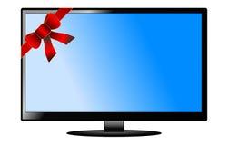 Flat tv isolated Royalty Free Stock Image