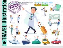 Flat type Doctor old man_travel vector illustration