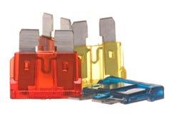 Flat Type Fuses Macro Isolated Stock Photography