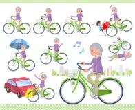 Flat type grandma Sportswear_city cycle vector illustration
