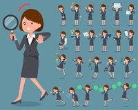 Flat type Gray suit business woman_2 Royalty Free Stock Photo