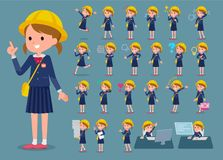 Flat type Nursery school girl_1 Stock Photography