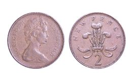 England coin new pence stock photo