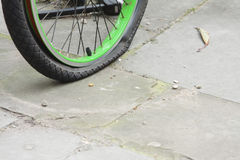 Flat tyre Stock Images
