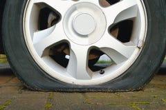 Flat tyre Stock Photo