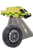 Flat Tyre Montage Stock Images