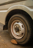 Flat tyre Stock Photo