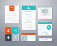Flat ui business elements  template Royalty Free Stock Photo
