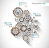 Flat UI design concepts for unique infographics Stock Photo