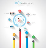 Flat UI design concepts for unique infographics Royalty Free Stock Photography