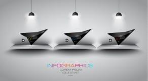 Flat UI design concepts for unique infographics Stock Photos