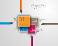Flat UI design concepts for unique infographics Royalty Free Stock Photos