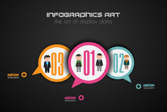 Flat UI design concepts for unique infographics Royalty Free Stock Image