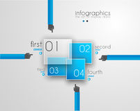 Flat UI design concepts for unique infographics Stock Image