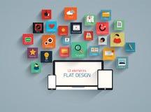 Flat ui design element and icion set Stock Photos