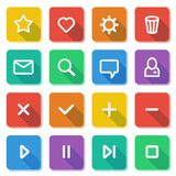 Flat UI design elements - set of basic web icons Stock Photography
