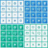 Flat UI design elements - set of basic web icons. In different colors variations. Vector illustration Stock Photos