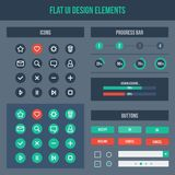 Flat UI design elements Stock Image