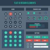Flat UI design elements Stock Image