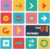 Flat ui design icons. Arrows. Royalty Free Stock Photography