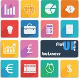 Flat ui design icons. Business. Royalty Free Stock Images