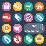 Flat ui design icons - Commerce. Royalty Free Stock Images