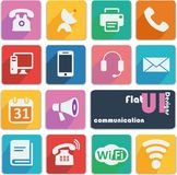 Flat ui design icons - Communication Stock Images