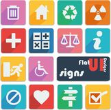 Flat ui design icons - Signs. Signs icons in different colors Stock Photography