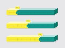 Flat UI Design Progress Bars. Vector Illustration. Isometric Vie Stock Photo