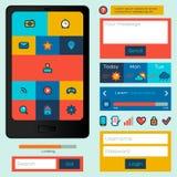 Flat UI design. Royalty Free Stock Images
