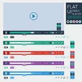 Flat UI design of video player Royalty Free Stock Images