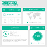 Flat UI design website elements Stock Images
