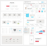 Flat UI element kit for Business templates Royalty Free Stock Photos